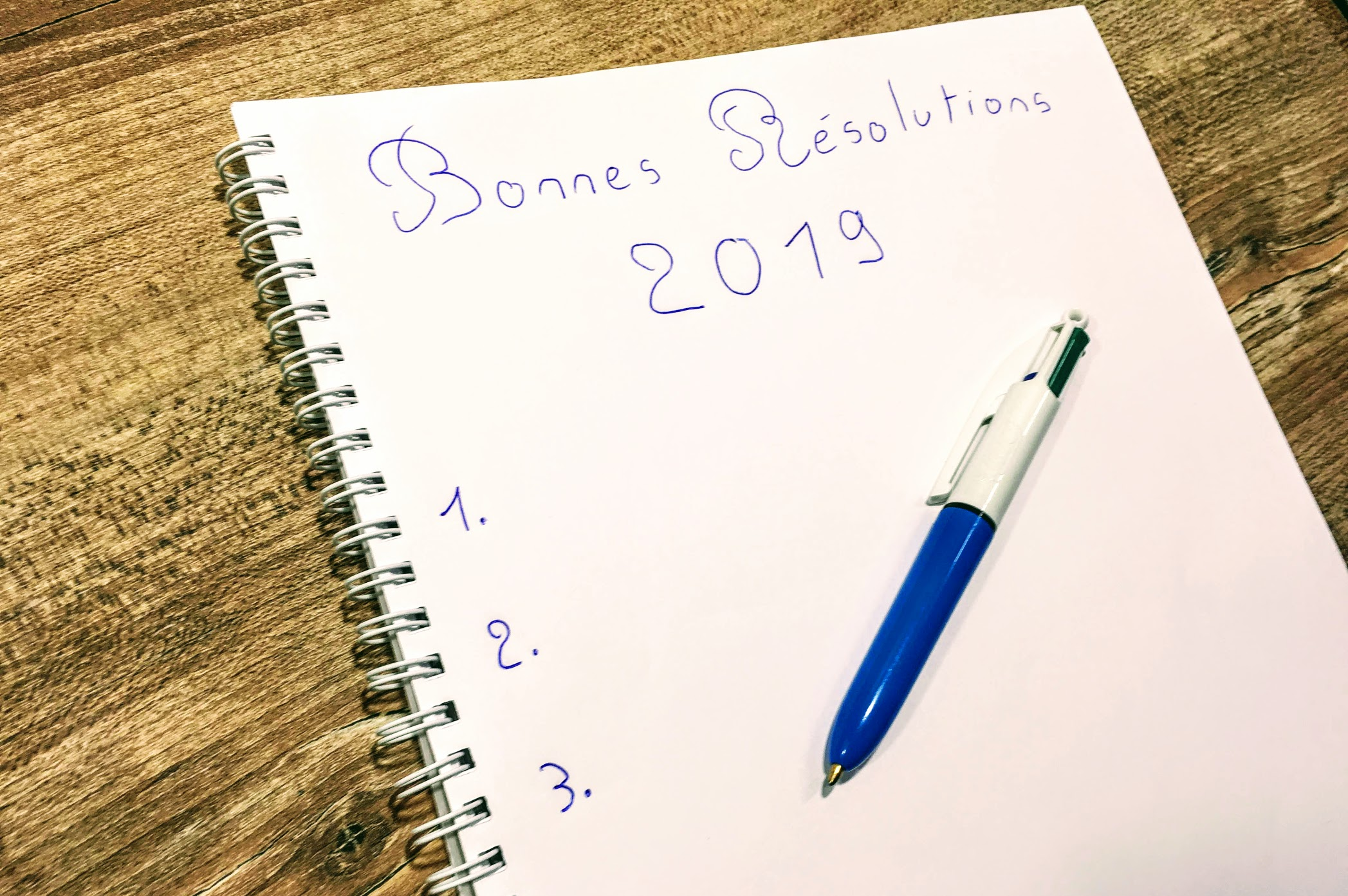 bonnes resolutions 2019