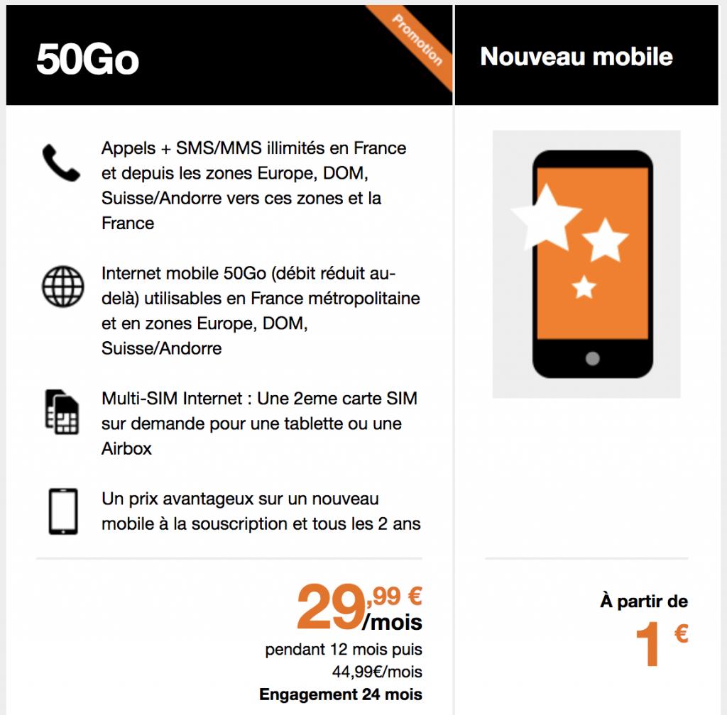 offre orange mobile inclus